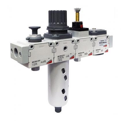 Блок подготовки воздуха комбинация MC202-QN-5-FL Camozzi